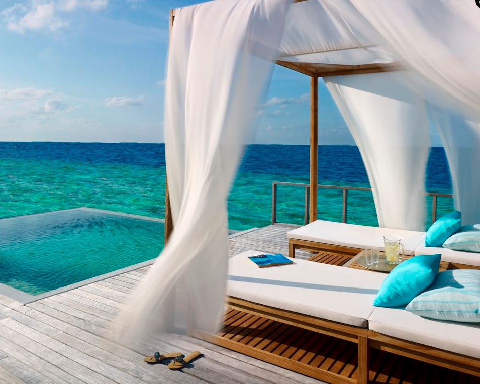 Matrimonio Bed Ocean : Dusit thani maldives lets go