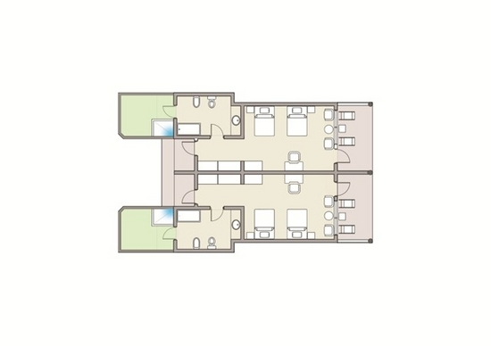 Superior Beach Bungalow Floor Plan
