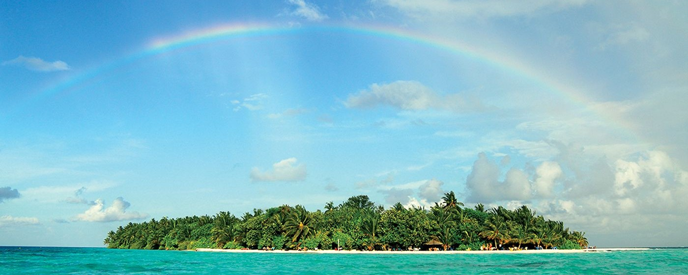 Vilamendhoo, A clear day with rainbow_副本