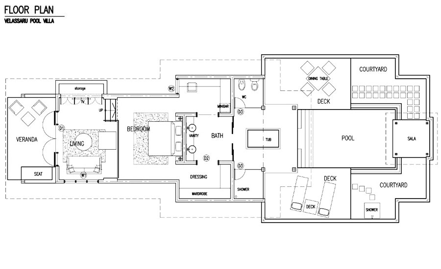 Pool Villa Floor Plan