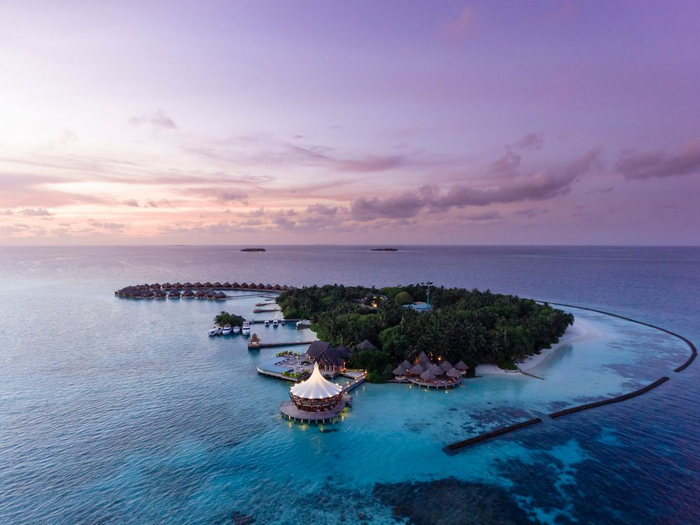 Sunset at Baros Maldives