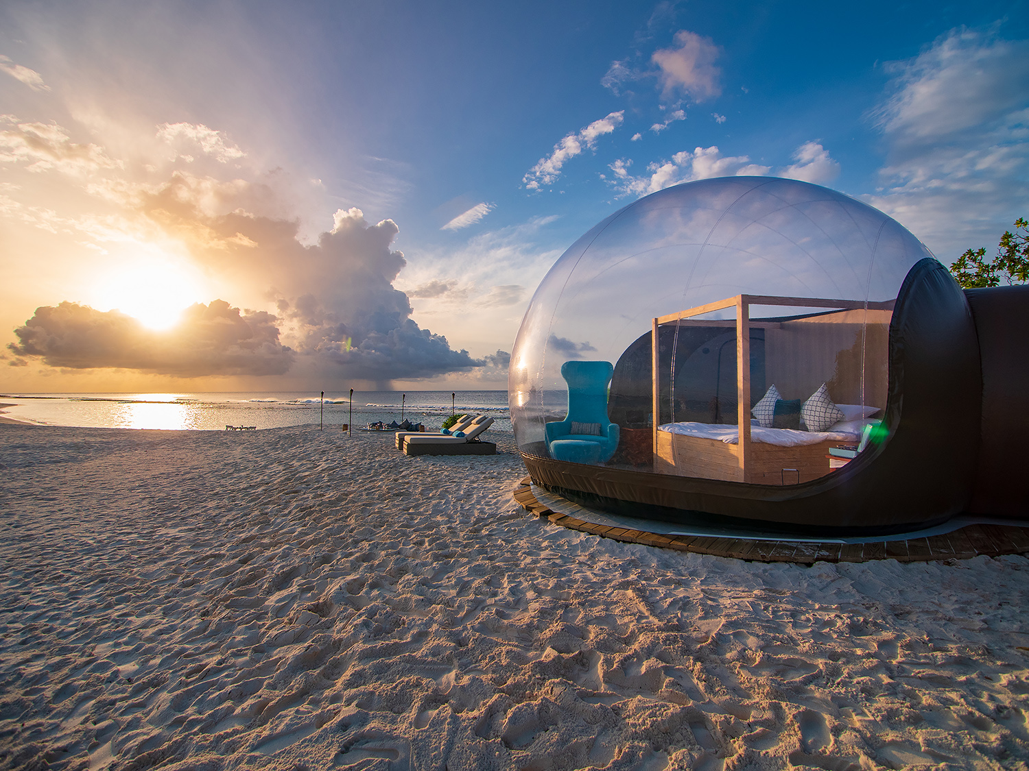 Finolhu, Maldives launches Beach Bubble Tent web