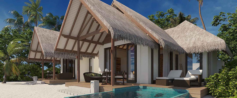 Family-Pool-Beach-Villa Heritance Aarah