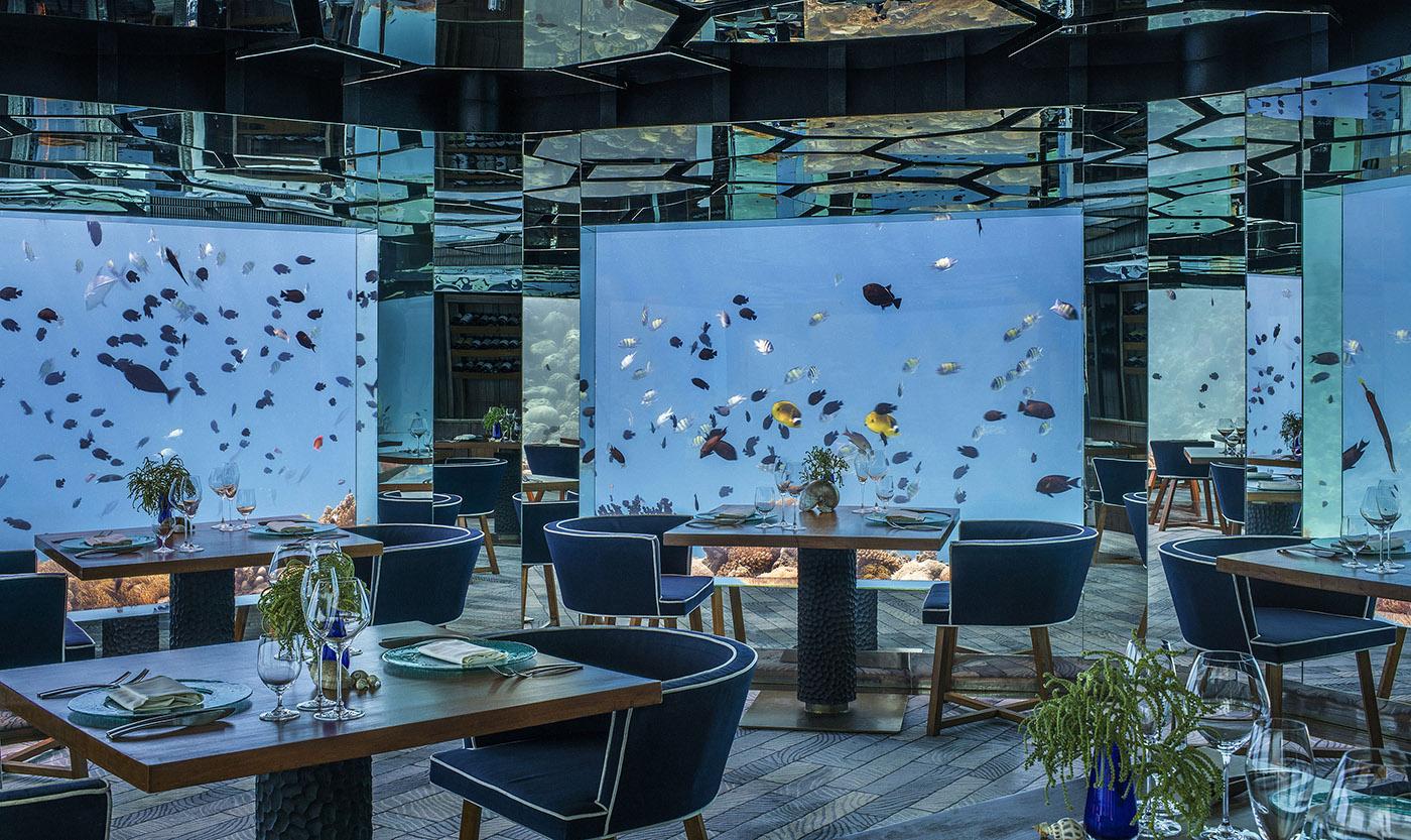 Anantara Kihavah underwater restaurant web