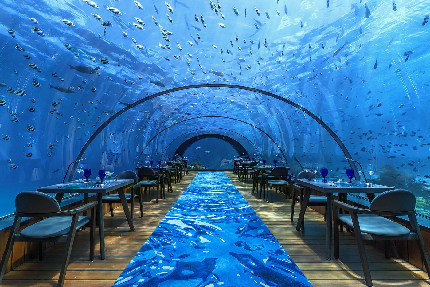 Hurawalhi5.8 Undersea Restaurant Interior web