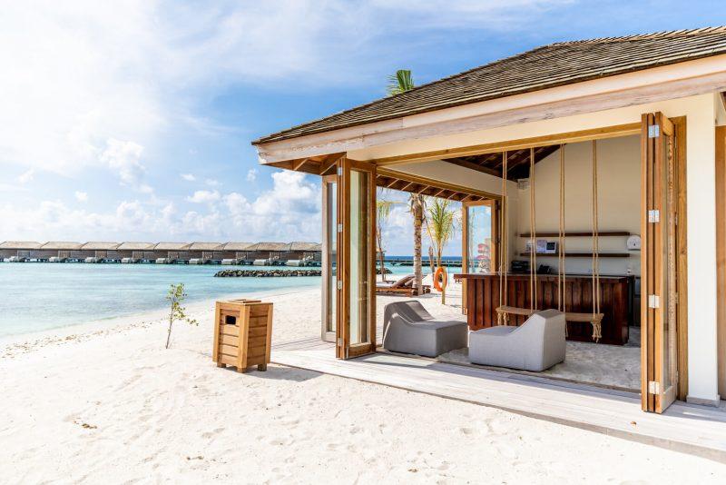 Kagi Maldives Spa Island beach hut dining